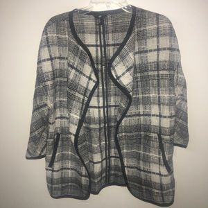 H&M Black White Knit Pattern Blazer Size XS